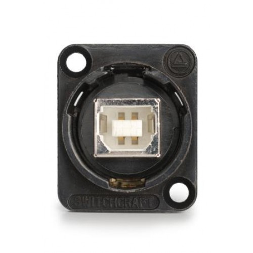 EH-1355 USB B to USB A Through Panel Coupler Black Bodied. Switchcraft Part Number EHUSBBAB
