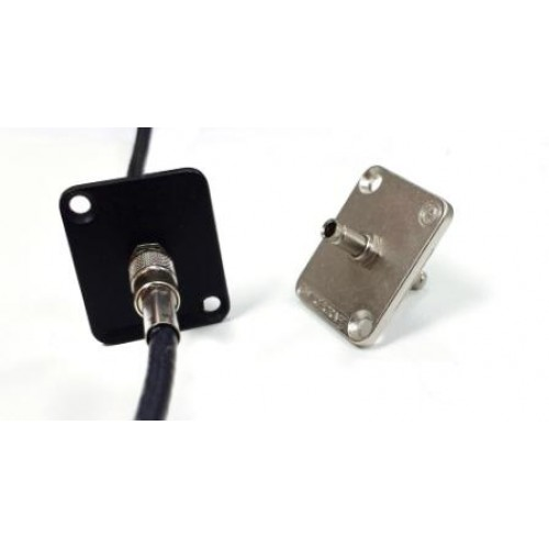 EH-4510 EH Series Din 1.0/2.3 feed through sockets, Silver shell. Switchcraft part number EHDIN1023XZ