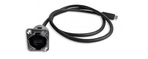 EH-1390 series USB 3 type C socket to free end Switchcraft Part no: EHUSB31CFM