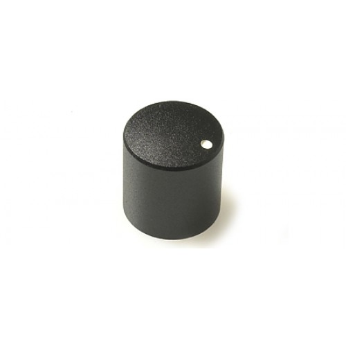 KM-2700 CHK Control Knob Black Satin Finish 6mm splined fixing with white marker dot.