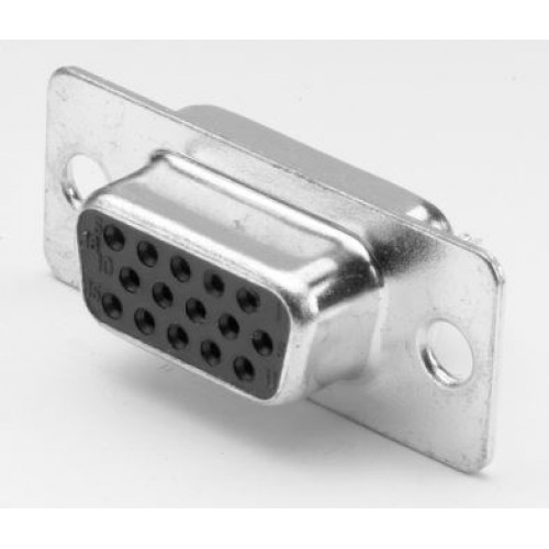 HD-1515 SVGA 15 pin High Density D Cable Socket