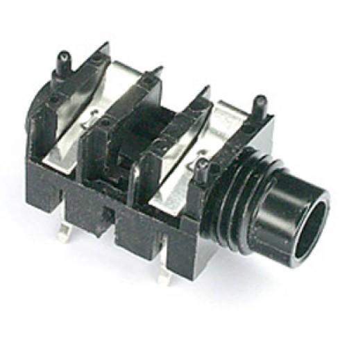 JK-1060 1/4 inch slimline jack socket mono switched for PCB mounting