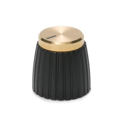 KPM-1675 Retro Style Amplifier Knob Spun Aluminum Gold Finish