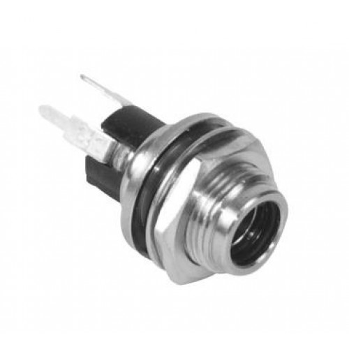 DC-064A 2.1mm DC panel jack with straight PC-B pins Switchcraft part number PCL722AS