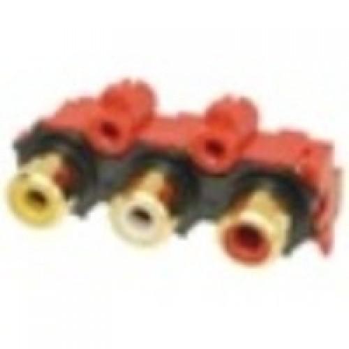 PS-3059 Triple Horizontal Phono Socket