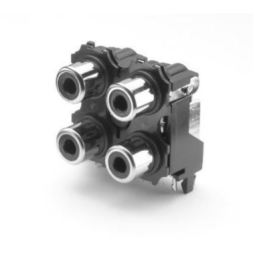 PS-3214 Quad RAPCB Phono Socket  NO LONGER AVAILABLE