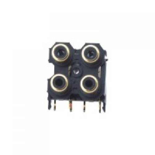 PS-3259  4 way Quad Phono Socket with gold plated contacts