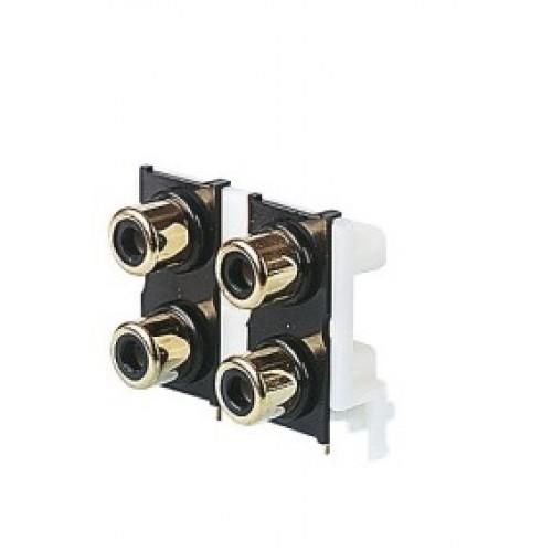 PS-4005 Quad Gold Plated Phono Socket