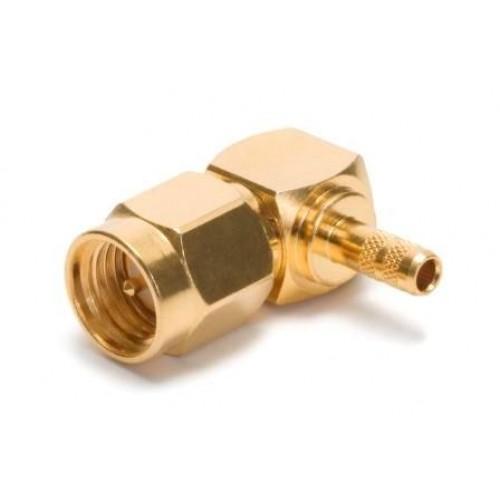 SA-2182  Right Angled SMA gold plated crimp plug suitable for RG174 cable