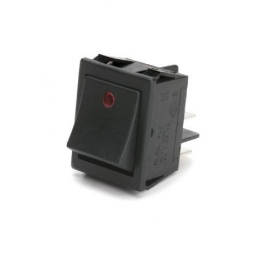 SW-6635 Mains Rocker Switch with Red LED Spot Indicator