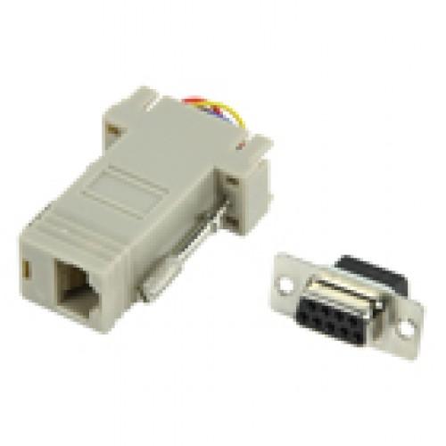 "TC-4595 9 Way ""D"" Female socket. to RJ45 socket"