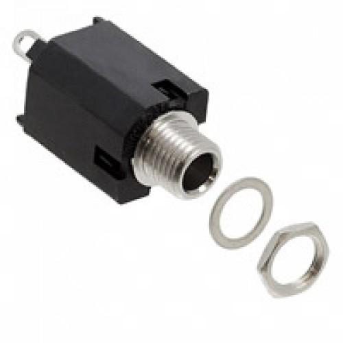 UJTB Switchcraft 4.4mm Bantham stereo unswitched panel mounted box jack socket.