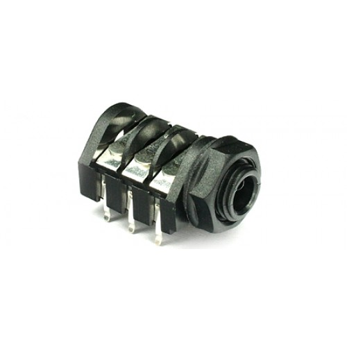 JK-2460 Stereo Switched 'PC-C' type PCB mounting 6.35mm (1/4inch) jack socket.