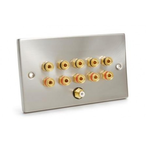 WP-3010: Chrome finish 5.1 Wall Plate