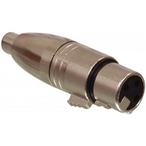 ISX-2080 - XLR 3 PIN FEMALE TO PHONO SOCKET ADAPTOR