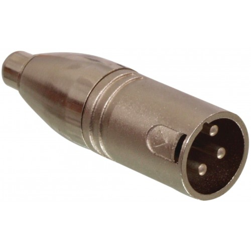 ISX-2075 XLR 3 PIN MALE TO FEMALE PHONO SOCKET ADAPTOR