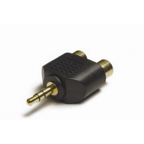 AA-3525 3.5mm Stereo Jack Plug to 2 x Phono socket adaptor