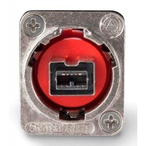 EH-1308 Firewire 800 Socket/Socket CROSSWIRED Through Panel Coupler. Switchcraft Part Number EHFW800X2