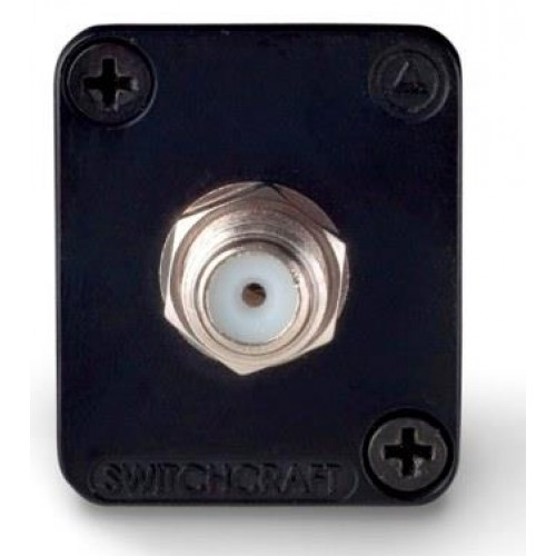 EH-1860 Switchcraft F socket coupler with silver shell Switchcraft Part Number EHFF2