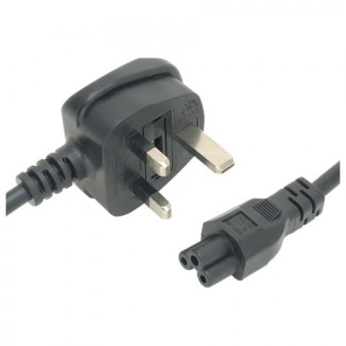 MC-5290 UK Plug 5 Amp to 3 pole C5 Cloverleaf Socket Socket 2M