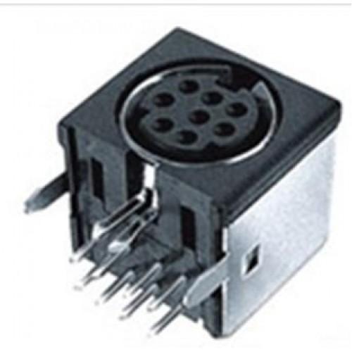 MD-2040 4 pin RAPCB Screened Mini Din Socket