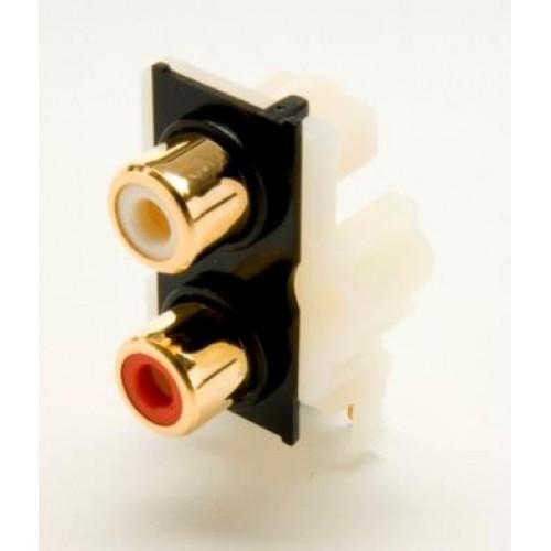 PS-2135, Gold Plated Dual Phono Socket