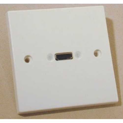 WP-8720: White plastic HDMI wall plate